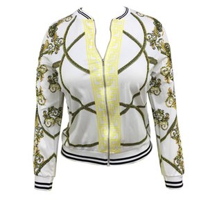 Wholesale 2018 Autumn New Style Digital Positioning Printing Jacket Women's Fashion Thin Section Self Cultivation Type Jacket