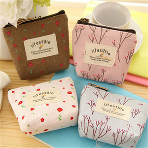 Wholesale 10pcs High Quality Mini Coin Bag Boys Girls Wallet Purse Korean Simple Floral Cartoon Wallet 4 Colors
