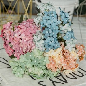 Wholesale Hydrangea Artificial Silk Flower Bouquet Home Furnishing Festive Wedding Ceremony Decor Simulation Flowers Ornament Party Supplies df bb