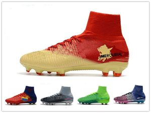 Wholesale 2018 Original Mens CR7 Mercurial x EA SPORTS Superfly V FG Soccer Shoes Magista Obra Soccer Cleats Football Boots Youth Cristiano Ronaldo