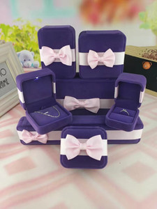 2018 Jewelry Boxes And Packaging Jewelry Storage Box with Purple Velvet