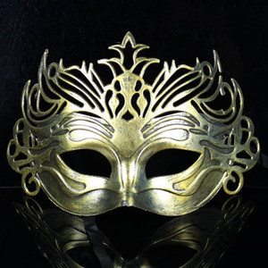 Wholesale New retro Roman fighter crown mask antique half face male and female dance party festival supplies