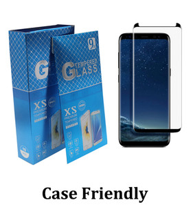 borda galáxias venda por atacado-Caso Amigável Vidro Temperado D curvado No Pop Up Screen Protector para Samsung Galaxy Nota Ultra S7 EDGE S8 S10 S20 S30 Plus