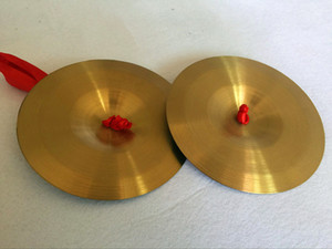 Free shipping child Percussion toys Parent-child Early education Pure copper Cymbals Gong