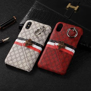 New IPhone X luxury case Fashion Luxury Popular Mobile Phone Shell Metal Bee Wallet Back Cover Case for IPhone 6 6plus 7 8 7 8plus