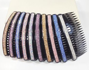 Free shipping 10pcs lot 3 Row Crystal Hair clip Barrettes Comb Hair Jewelry Accessories For Hair Jewelry Gift HJ688