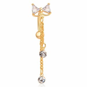 D0616 ( 2 color ) Nice style belly ring Clear color as imaged piercing body jewlery navel belly ring body jewelry