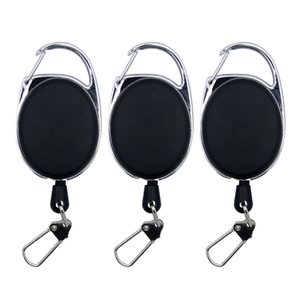 Fly Fishing Tools Zinger Retractor Extractor Keeper Tether Retractable Reel Anglers Badge Holder Fishing Tackle Boxes Recoil Carabiners Clip