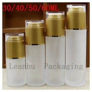 Wholesale spray toner for sale - Group buy Women Frosted Glass Spray Bottle For Toner Essence of The Container Golden Acrylic lid Cosmetic Packaging Bottle