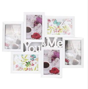 Wholesale You Me Pictures Images Display Aperture Photo Frame Wall Decor Collage Gift Inch Photo Love Theme Frame Household Decoration