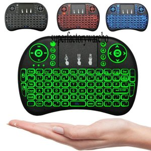 Mini Wireless Keyboard 3 colour backlit 2.4GHz English Russian Remote Control Touchpad For Android TV Box Tablet PC Smart TV