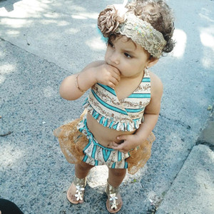 2018 Brand New Toddler Infant Children Clothing 3Pcs Kids Baby Girl Bikini Set Swimwear Swimsuit Bathing Beachwear Lace Ruffled Swimsuit