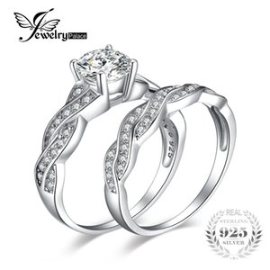 Wholesale JewelryPalace Infinity ct Simulated Diamond Anniversary Promise Wedding Band Engagement Ring Bridal Sets Sterling Silver S18101001
