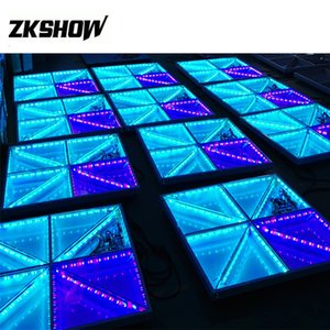 Wholesale 100*100*10CM Wedding Dance Floor Luces Discoteca Iluminacion Lumiere IP65 720x5mm 10mm RGB Epistar Colorful Ray Stage Lighting Free Shipping