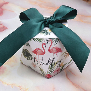Wholesale Multicolor Wedding Bags Sweet Gift Candy Boxes for Wedding Baby Shower Birthday Guests Christmas Party with Silk ribbon