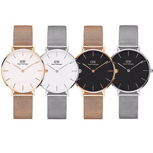 Wholesale Top Rose Gold Quartz Watch mm and mm mm Men s Casual Japanese Quartz Watch Stainless Steel Mesh with Slim Clock Ladies watch