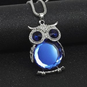 NBN001SR Brand new Korean women's clothes collocation with a Crystal Owl sweater chain long decoration necklace wholesale