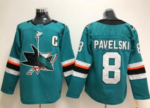 Wholesale New San Jose Sharks Jerseys Pavelski New Brand Hockey Jerseys Teal Green Color Size M XXXL Mix Order High Quality All Jerseys