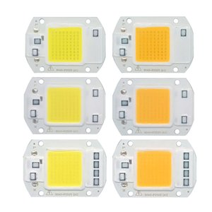 5pcs lot LED COB Chip 20W 30W 50W 220V Input light Beads Smart IC Driver for DIY Outdoor Floodlight streetlight mining lamp on Sale