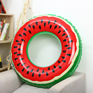 Wholesale Life Vest Buoy Outlife Watermelon Inflatable Adult Kids Swimming Ring Inflatable Pool Float Circle for Adult Children Buoy BG