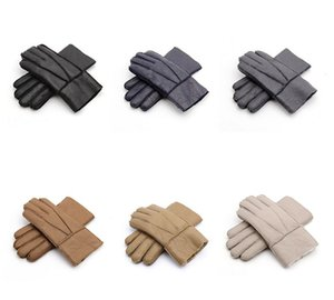 Free Shipping - High Quality Men's Leather Gloves Warm Gloves Men's wool gloves Quality Assurance