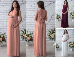 afce8e8ece Wholesale maternity dress Summer dress round collar sleeveless Lace long  dress for pregnant women