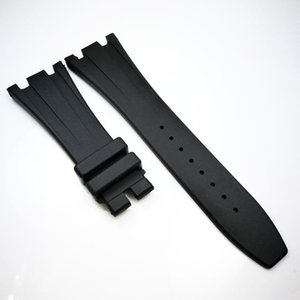 Wholesale 28mm Black luxury high quality Silicone Rubber Strap Band for AP Audemars Piguet Royal Oak Offshore