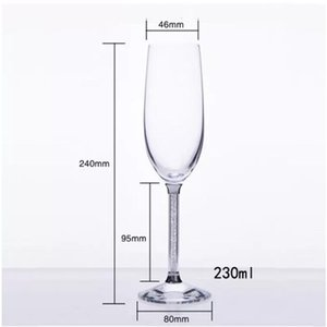 Wholesale Champagne Glass Flutes Perfect for Wedding Gifts Set of Luxury K9 Crystal Toasting Flutes and Wine Glasses