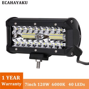 Wholesale 120W Inch LED Work Light Bar Flood Spot Combo Driving Lamp Waterproof K LED Work Light For SUV ATV Truck Offroad Boat WD