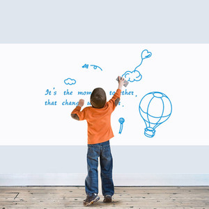 Whiteboard Sticker Self-Adhesive Wall Decal Dry Erase Peel and Stick Paper Roll Sheets for Home School and Office