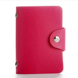 Fashion PU Leather Function 24 Bits Card Case Business Card Holder Men Women Credit Passport Card Bag ID Passport Wallet on Sale