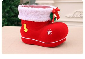 Christmas gifts Christmas candy boots jar Christmas mascot creative decoration supplies extra large flocking boots PC 25*15*20CM