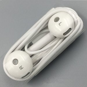 Wholesale Original White Huawei AM115 Earphone With Microphone Stereo earphone Earbuds for xiaomi huawei Android Smartphone for MP3 MP4 For PC