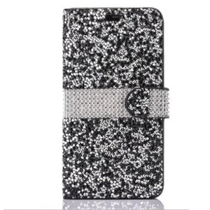 Wholesale For iPhone Galaxy ON5 Wallet Diamond Case iPhone Case LG K7 Stylo Bling Bling Case Crystal PU Leather Card Slot Opp Bag