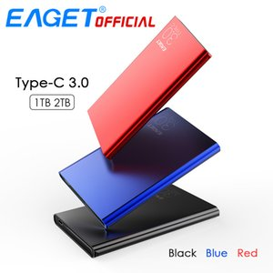 EAGET External Hard Drives 2TB 1TB HDD 2.5 inch High Speed Type C 3.0 Hard Disk Ultra-thin USB C Mobile HDD for Laptops Desktop