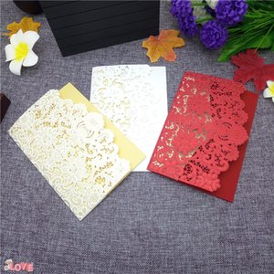 Wholesale 50pcs Vertical Laser Cut Butterfly Invitations Cards Kits for Wedding Bridal Shower Birthday Wedding Party Decoration ZXH25