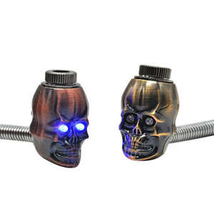 Wholesale New Mini Pipe Skull Can Bend Light Function Exquisite Color Easy To Carry High Quality Smoking Pipe Tube Unique Design Hot Sale