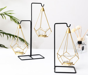 ingrosso bar decorazioni per la casa-Nordic Holder Candle Light Table metallo romantico Wedding Holder Candlelight Dinner Props Crative europea ornamenti Candela Decorazione