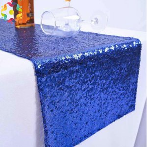 Wholesale New Good Quality Sequin Table Runner x275cm Sparkly Wedding Party Decor Party Event Bling Table Decoration For Dining