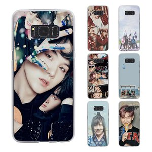 Wholesale kpop BTS bangtan boys style transparent phone shell Case for Samsung Galaxy S8 S8 Plus S6 S7