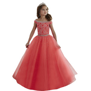 ingrosso abiti da ballo-Custom Made Flower Girl Dress per Wedding Birthday Comunione Prom BallGown Pageant Party