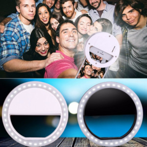 Wholesale 2019 Hot selling LED Selfie Ring Light For iPhone For Xiaomi For Samsung Huawei Portable Flash Camera Phone Case Cover Photography Enhancing