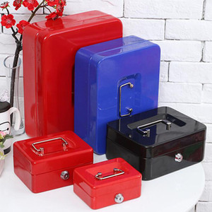 Wholesale Safe Small Coin Piggy Bank Metal Saving Money Box Cash Money Box With Locks Fit For Home Office ZA6981
