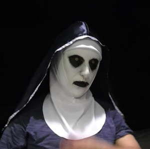 Wholesale nun mask for sale - Group buy New The Nun Horror Mask Cosplay Valak Scary Latex Masks With Headscarf Full Face Helmet Halloween Party Props