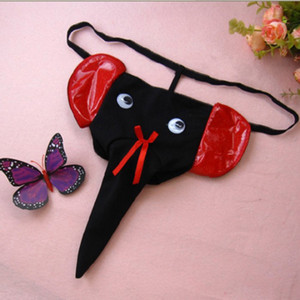 40c55e28e027 Men's Elephant cartoon sexy mini micro bikini Briefs Hipster penis pouch  thongs g strings tangas trunk panties low waist mens gay underwear
