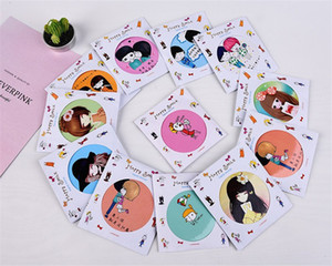 Wholesale dropshipper Compact Mirrors Girl mini pocket makeup mirror cosmetic Small Cute Cartoon Pocket Hand circular Makeup Mirror