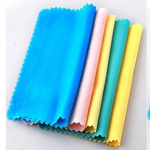 Wholesale Glasses Cloth Sunglasses Superfine Fiber Wiping Eyeglasses Cleaning Cloths Mult Colour Soft Towel Home Textiles rs gg
