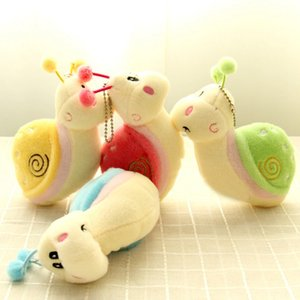 Wholesale Cute Snail Animal Fluffy Plush Stuffed Pendant Toy Gift Small Stuffed Pendant Funny Gift For Children Girls Colors