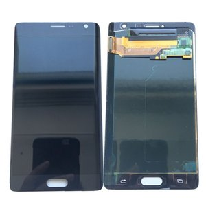 Wholesale Super AMOLED LCD Display Touch Screen Digitizer For Samsung Galaxy Note Edge N915 N9150 N915F Black White With Tempered Glass DHL logistics