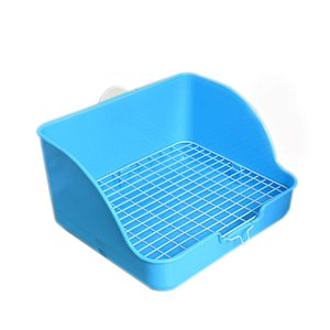 Wholesale Pet Small Rat Toilet Square Potty Trainer Corner Litter Bedding Box Pet Bedpan Pan for Small Animal rabbit guinea Pig galesaur ferret